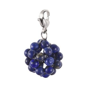 "Lapis Lazuli ""kluster""  ink halskedja rostfritt stål"