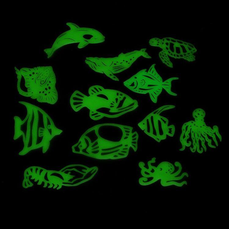 Självlysande fiskar, vägg/ takdekoration