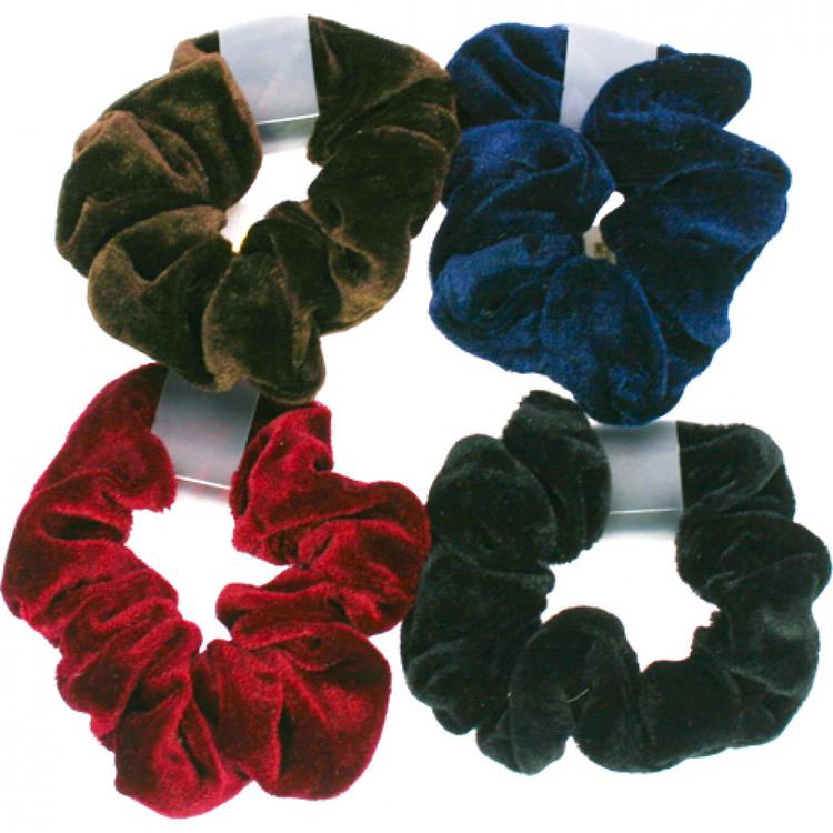 4-pack hårband i sammet