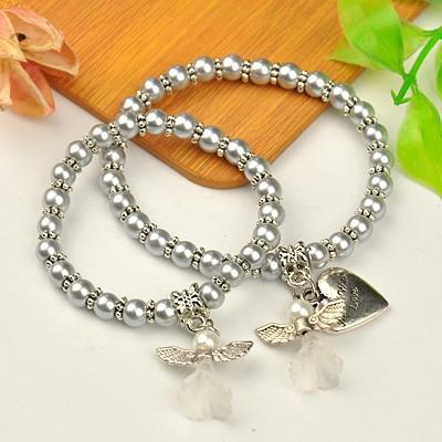Armband med skyddsängel , silver