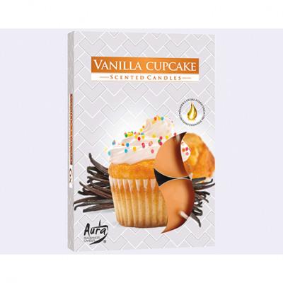 Värmeljus med doft 6-pack, Vaniljkakor