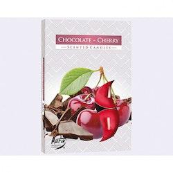 Värmeljus med doft 6-pack, Choklad/ körsbär