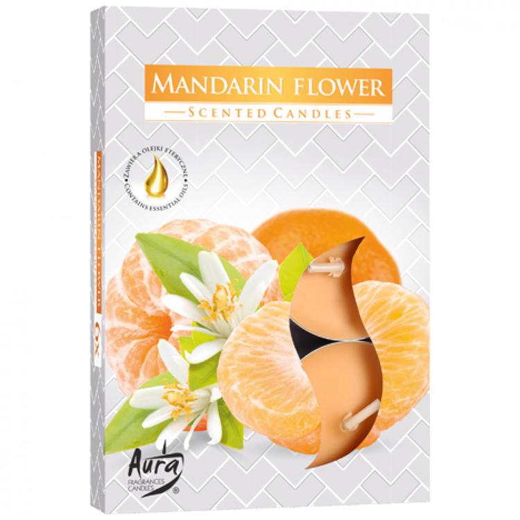Värmeljus med doft 6-pack, Mandarin blomma