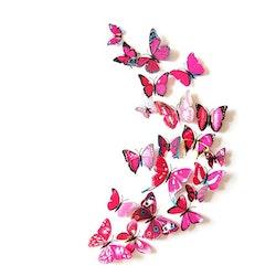 12 st Vägg stickers Fjäril modell 3