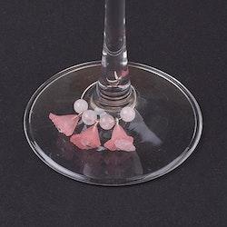 Glas dekoration,  Rosenkvarts