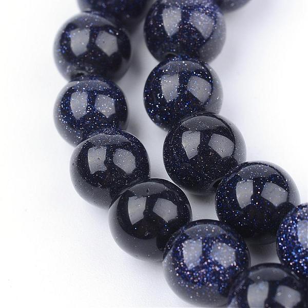 Pärlor Blue goldstone 6mm