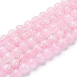 Pärlor Rosenkvarts 6 mm