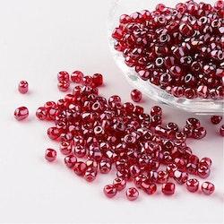 Seeds pärlor 4 mm, 50 gram, röd
