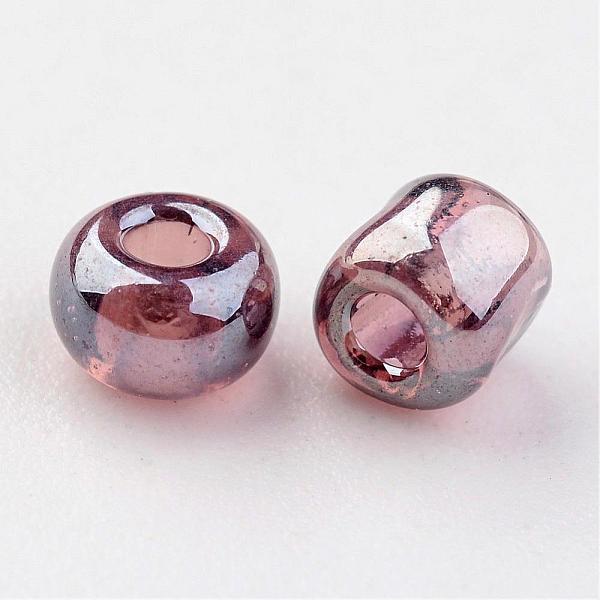Seeds pärlor 4 mm, 50 gram, rosa/brun