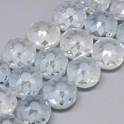 Stora facetterade klara glaspärlor, perfekt till tex solfångare