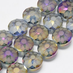 Stora facetterade glaspärlor, regnbåge, perfekt till tex solfångare