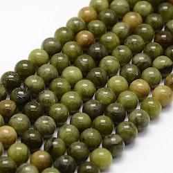 Pärlor Grön Jade 6 mm