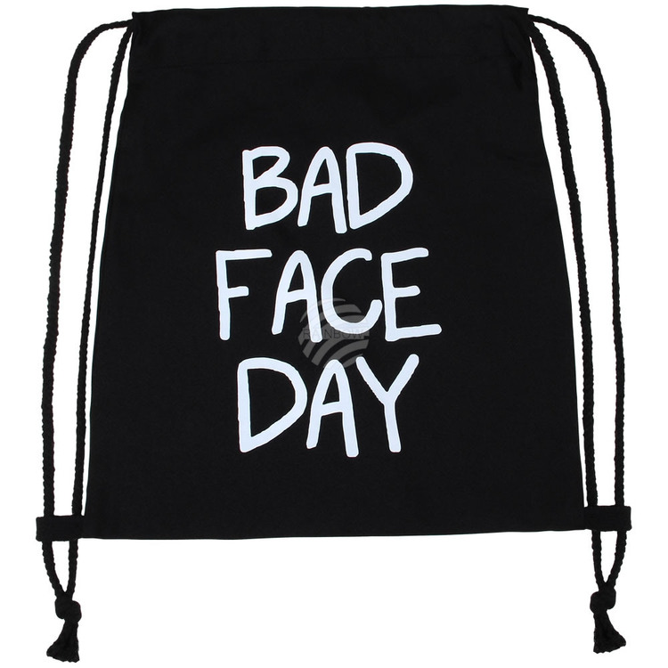 "Gym bag "" Bad face day """