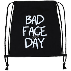 "Gym bag "" Bad face day "" , I LAGER JAN"