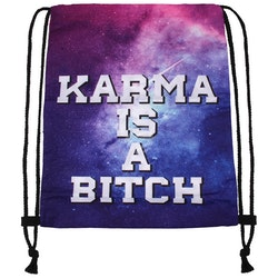 "Gym bag "" Karma is a bitch "" , I LAGER JAN"