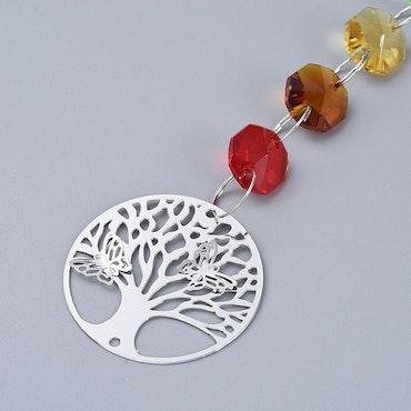 """Solfångare, fönsterdekoration """" tree of life / chakra"""", I LAGER APRIL"""