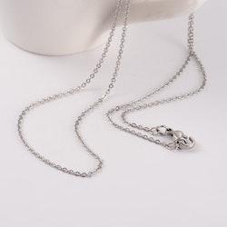 Berlock Bergskristall droppe INK halskedja rostfritt stål