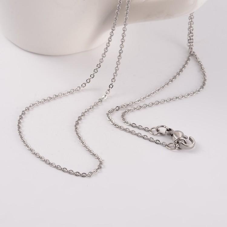 Berlock Opalite droppe INK halskedja rostfritt stål