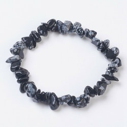 Chips - Armband Snowflakes obsidian,  I LAGER OKTOBER