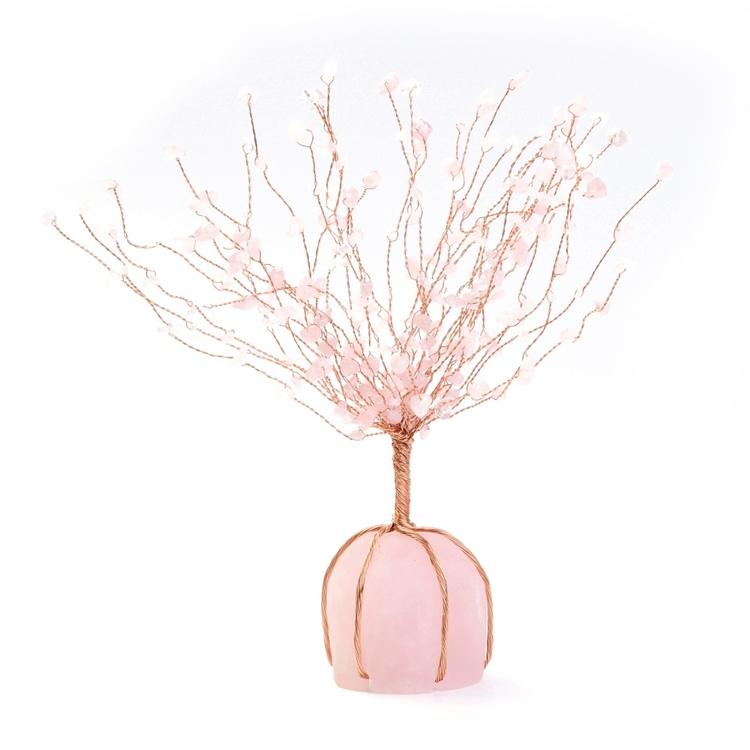 "Stort "" Lucky tree , Rosenkvarts"