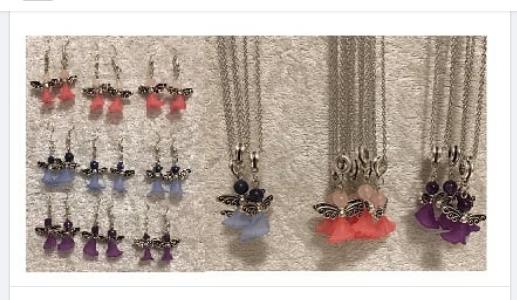 Änglar , Presentpaket halskedja + örhängen