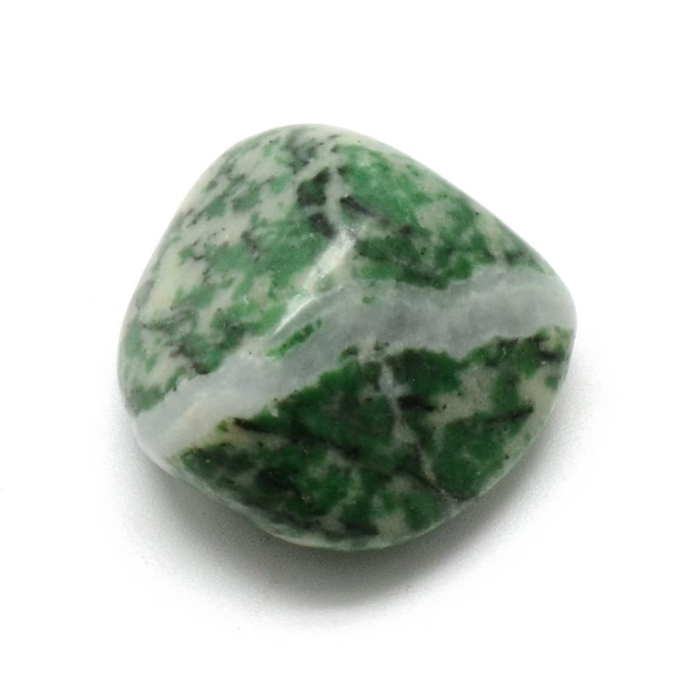Grön Jade , trumlad, I LAGER OKTOBER