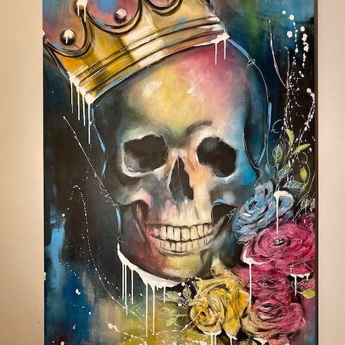 King of Skulls, canvastavla 100X140