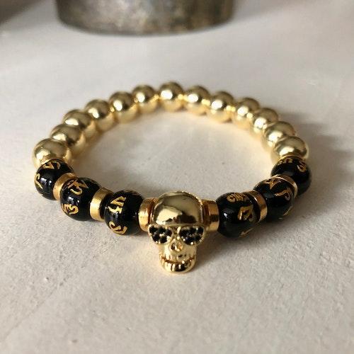 Armband Skull Guld - 10mm