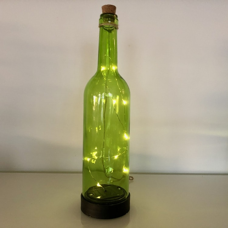 Green Bottle - solcellsdekoration 3-p