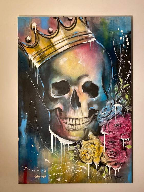 King of Skulls, canvastavla 70X110