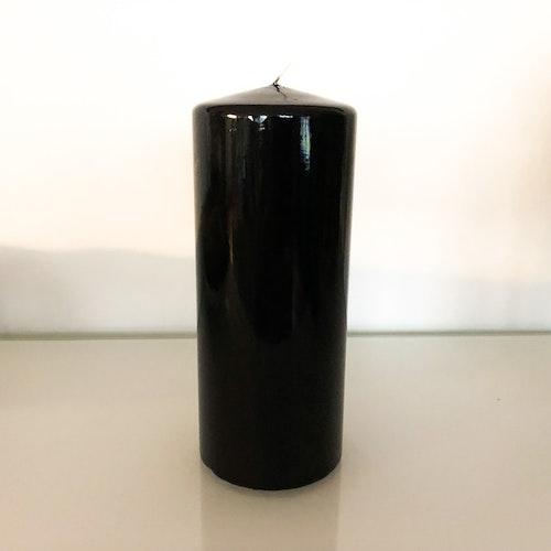 Klarlackat svart blockljus