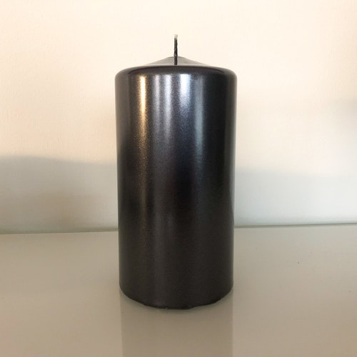 Metalliclackat blockljus Titan