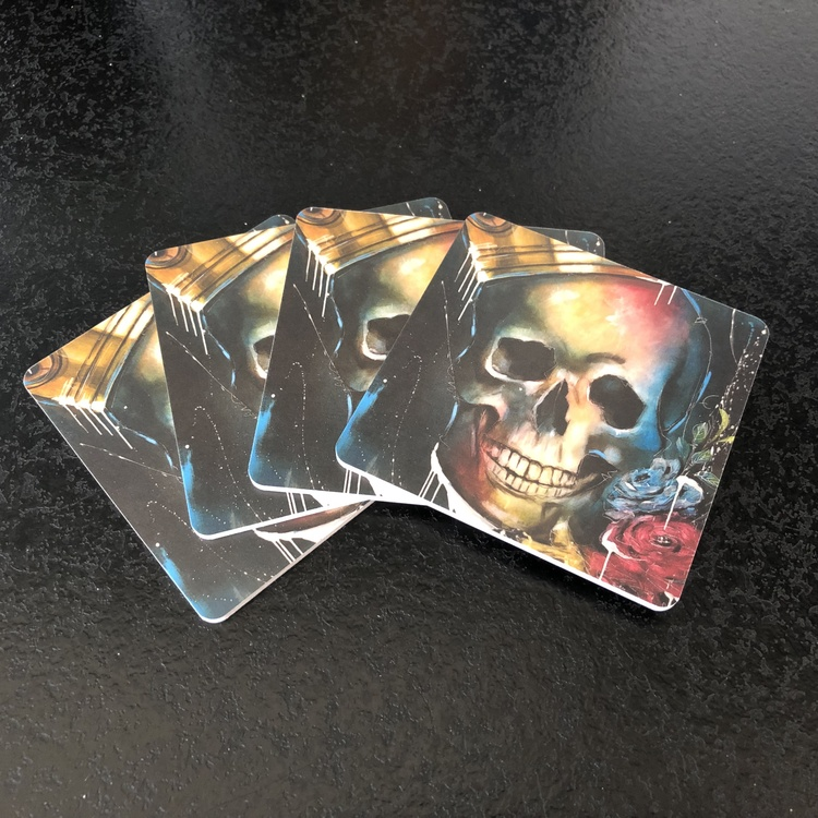 King of Skulls, glasunderlägg 4-p