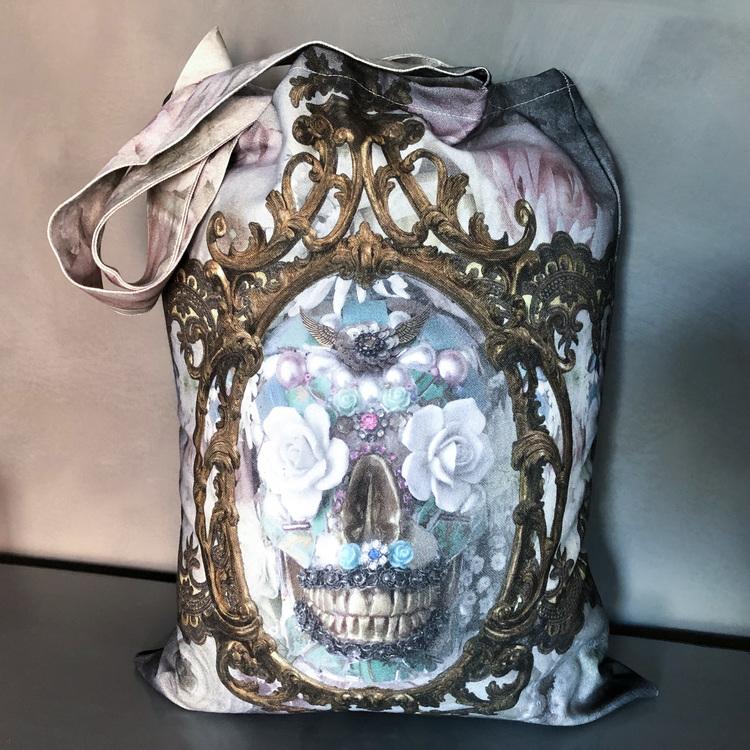 Shopperbag Pale Sugar Skull