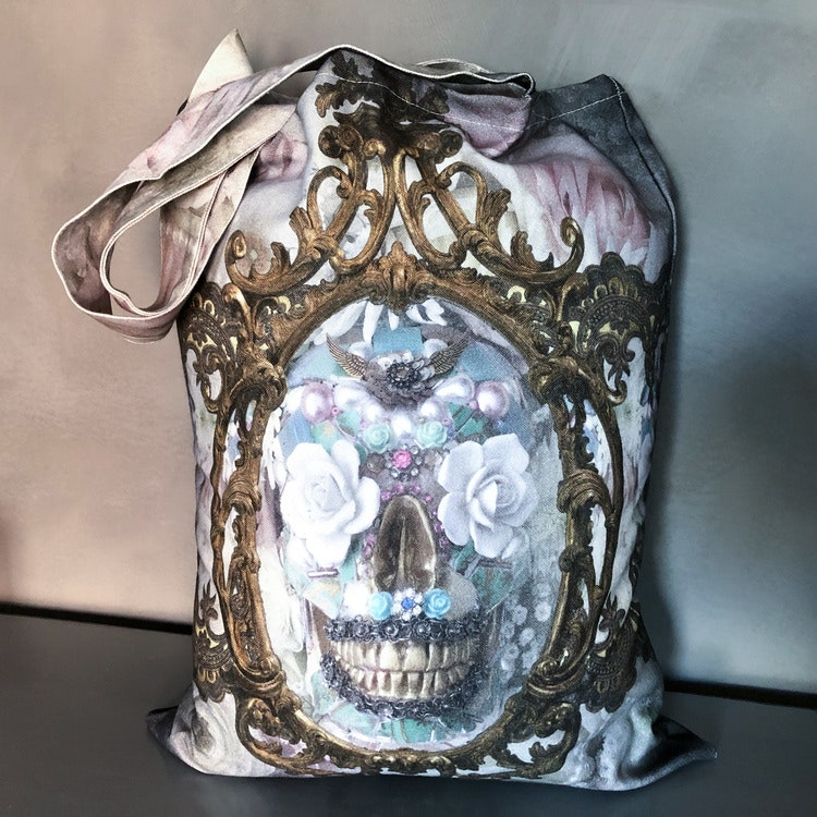 Shopperbag Pale Sugar Skull