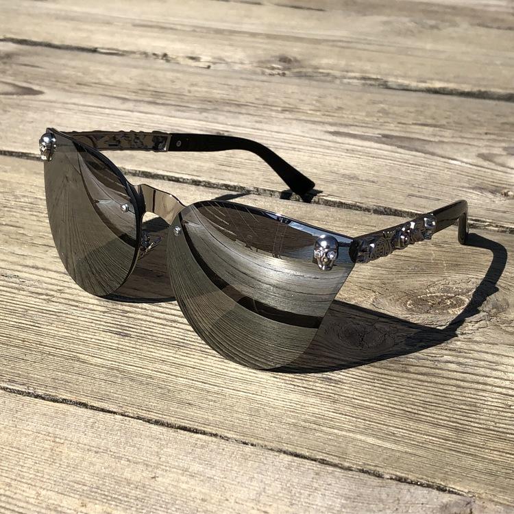 Skull Solglasögon, silver