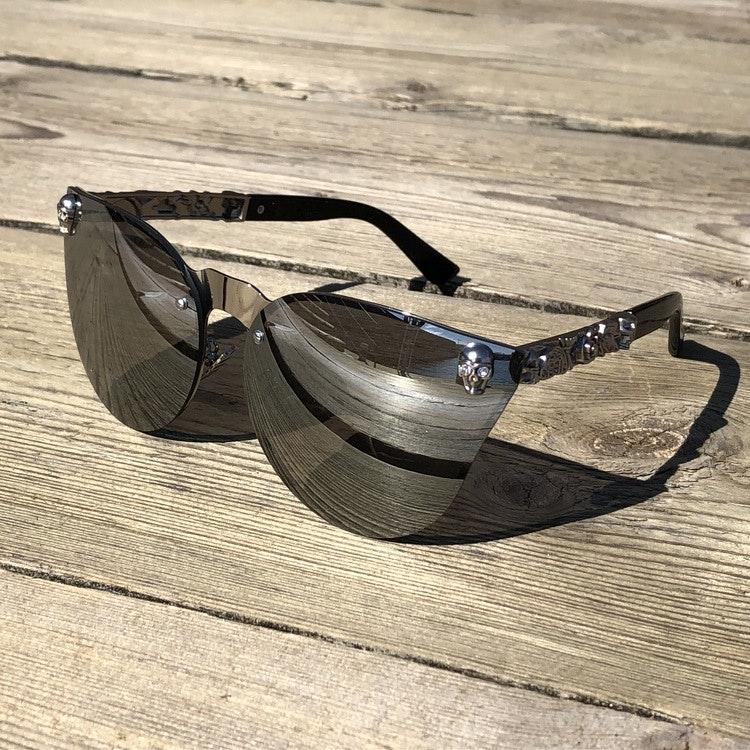 Skull Solglasögon, grå/silver