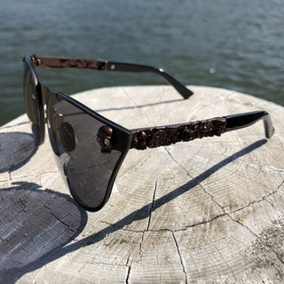 Skull Solglasögon, svart / brun