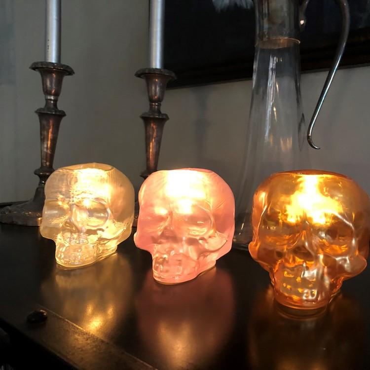 Still Life Skull Guld Metallic, ljuslykta