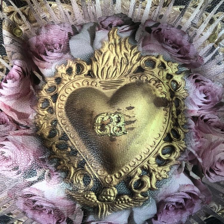 Golden Heart Handbag