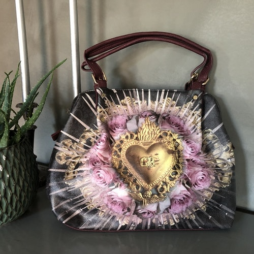 Golden Heart Handbag