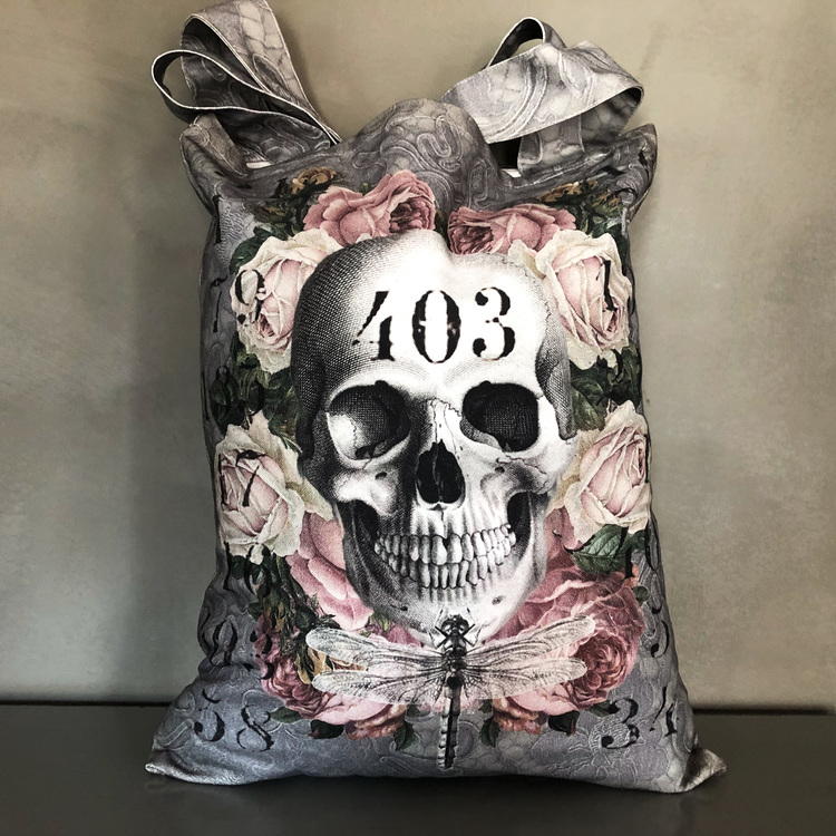 Shopperbag Skull Silver