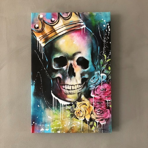 King of Skulls, canvastavla 30X45
