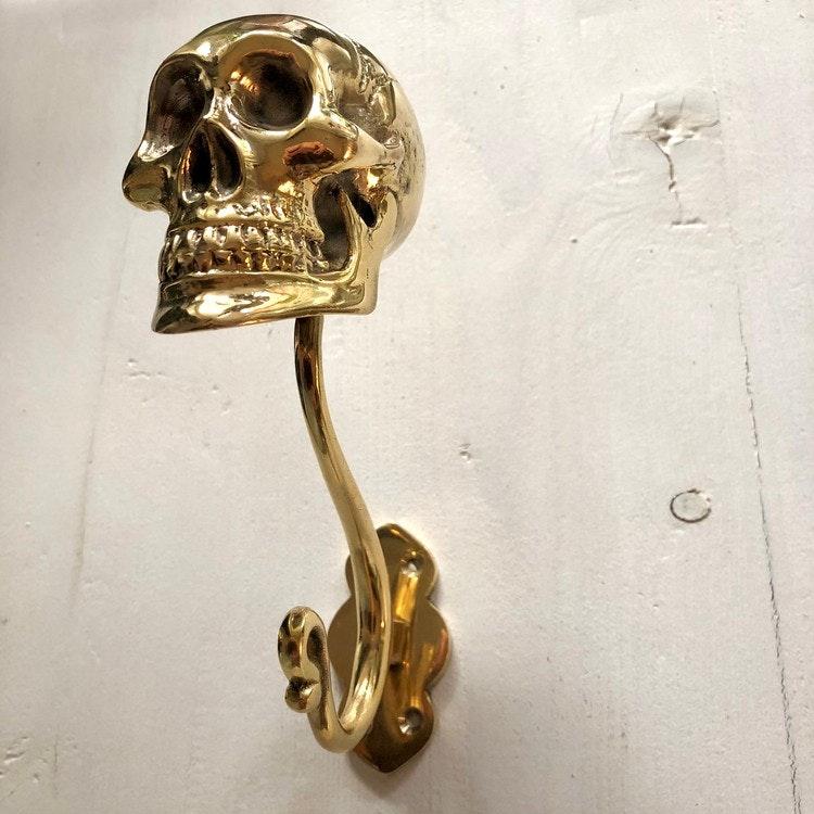 Väggkrok guldfärgad- skull