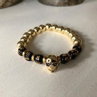 Armband Skull Guld - 8mm