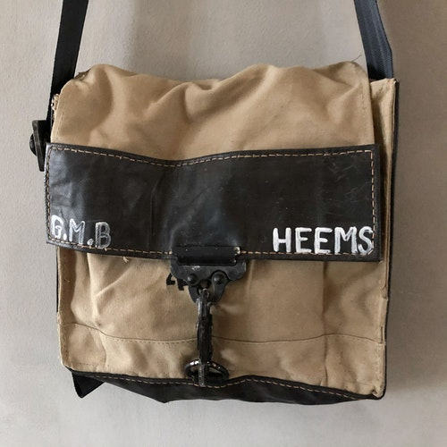 Canvas Shoulderbag - beige / svart