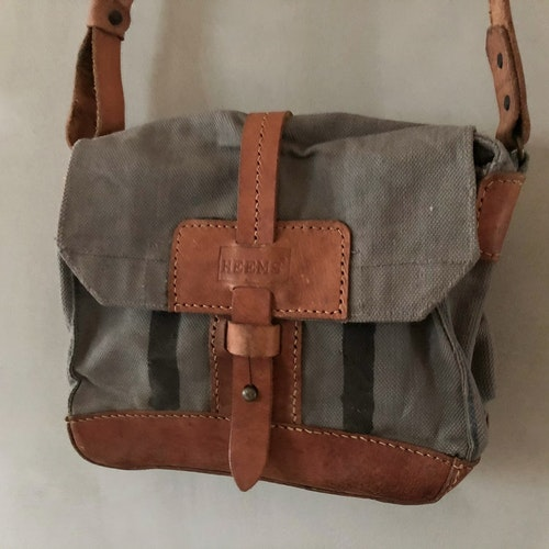 Canvas Shoulderbag - blå - grå