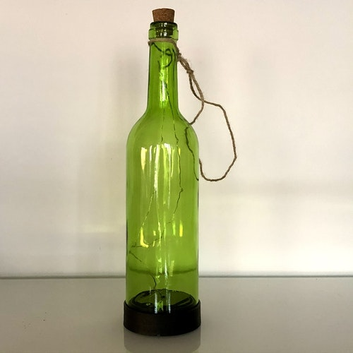 Green Bottle - solcellsdekoration