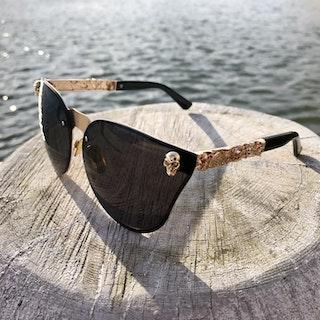 Skull Solglasögon, svart/guld