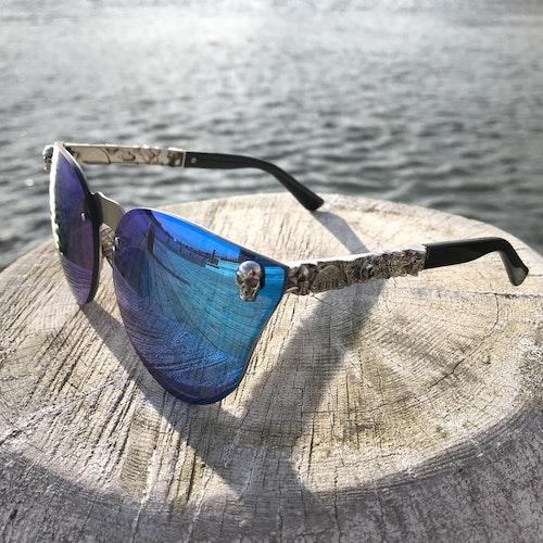Skull Solglasögon, blå/silver